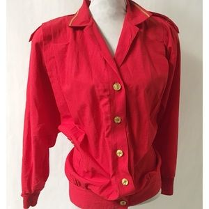 Red & Gold Vintage Top Size XL